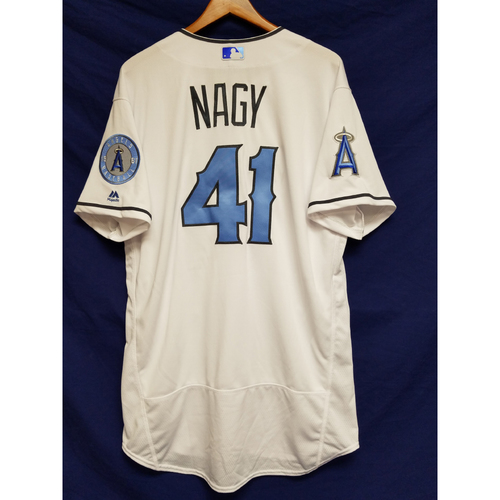 Photo of Charles Nagy Team-Issued Blue Fathers Day Jersey