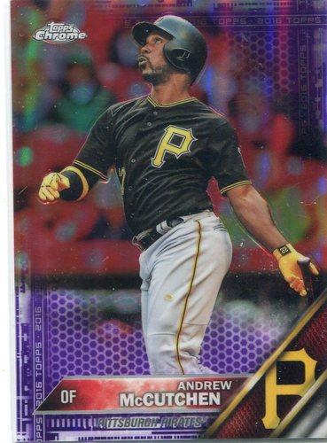 Photo of 2016 Topps Chrome Purple Refractors #175 Andrew McCutchen
