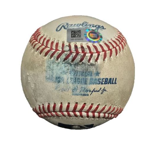 Photo of Game-Used Baseball from Pirates vs. Marlins on 5/26/15 - Jordy Mercer Single