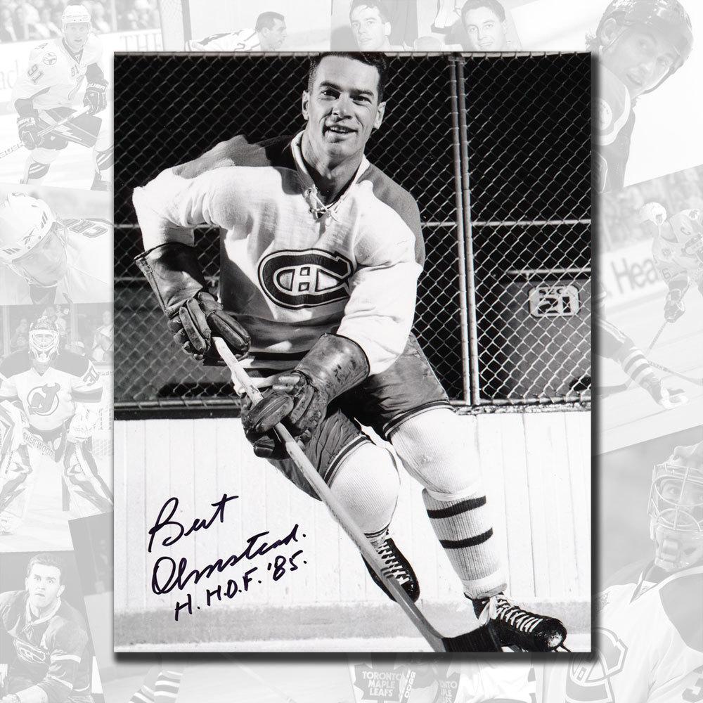 Bert Olmstead Montreal Canadiens HOF Autographed 8x10