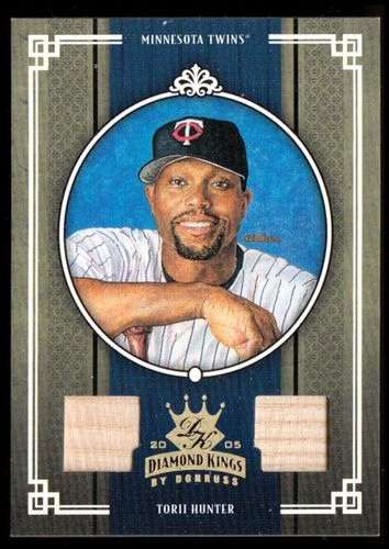 Photo of 2005 Diamond Kings Materials Gold #130 Torii Hunter Bat-Bat/50