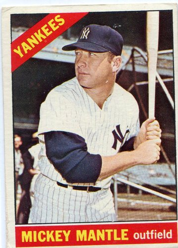Photo of 1966 Topps #50 Mickey Mantle -- Yankees Hall of Famer