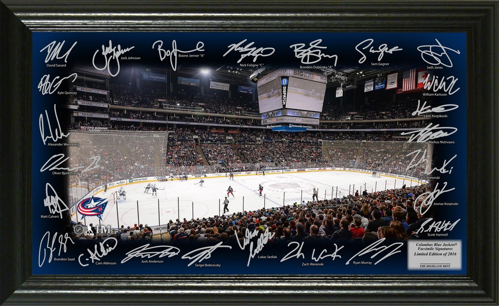 Serial #1 Columbus Blue Jackets Signature Rink