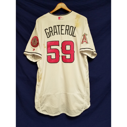 Photo of Juan Graterol Game-Used Home Mother's Day Jersey
