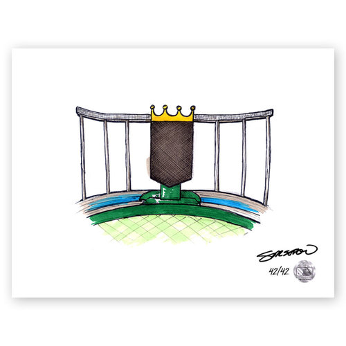 Photo of Kauffman Stadium Sketch - Limited Edition Print 42/42 by S. Preston