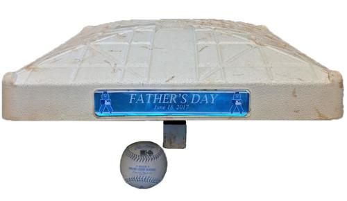 Photo of Game-Used Baseball and Third Base from Pirates vs. Cubs on 6/18/17 - Father's Day