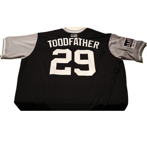 """Photo of Todd """"Toddfather"""" Frazier New York Yankees Game-Used Players Weekend Jersey"""