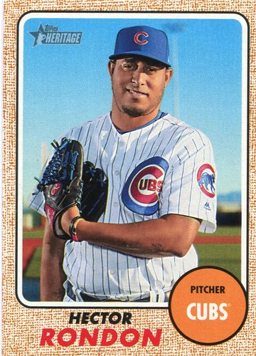 Photo of 2017 Topps Heritage #580 Hector Rondon Cubs post-season