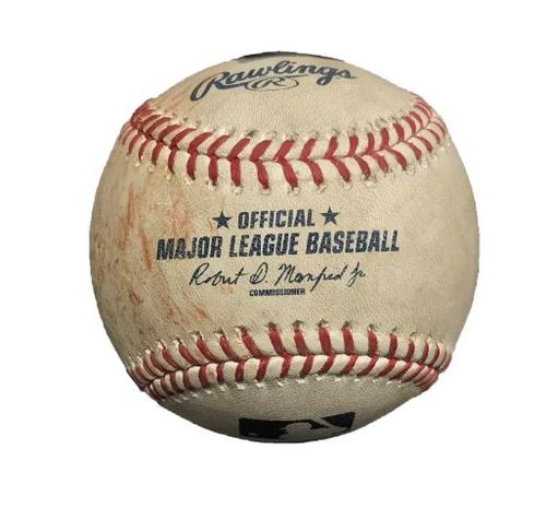 Photo of Game-Used Baseball from Pirates vs. Phillies on 6/13/15 - Maikel Franco Double