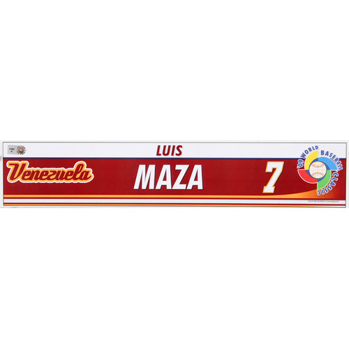 Photo of 2009 WBC: Venezuela Game-Used Locker Name Plate - #7 Luis Maza