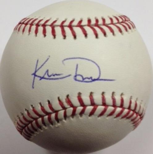 Photo of Khris Davis Autographed Baseball