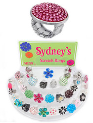 This best seller is back!<br>  Bling! Dazzle! <br>Fun! Fashionable!<br><br>Stretch the style<br> not the budget<br><br> Sydneys Stretch Rings from Center Court  main image