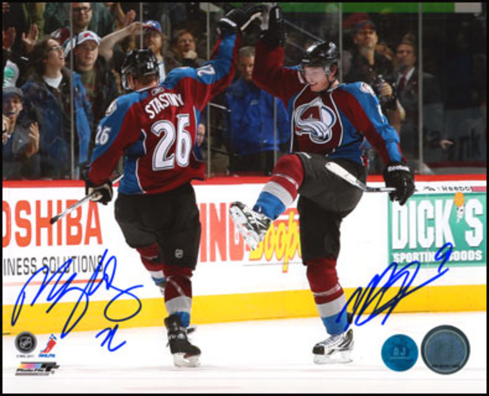 MATT DUCHENE & PAUL STASTNY Colorado Avalanche DUAL-SIGNED 8x10 Photo