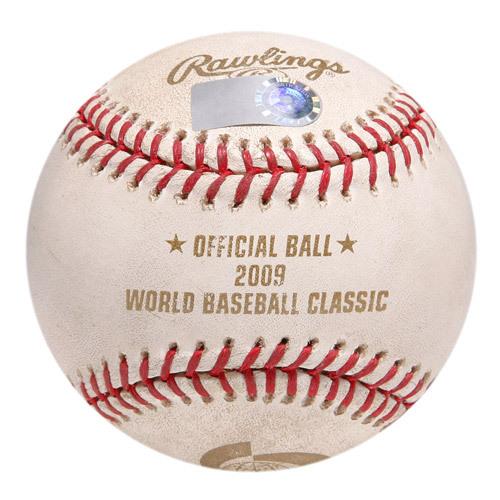Photo of 2009 World Baseball Classic: Round 2 - United States vs Puerto Rico - Batter: Carlos Beltran, Pitcher - Jake Peavy, Bottom of 1st, Single