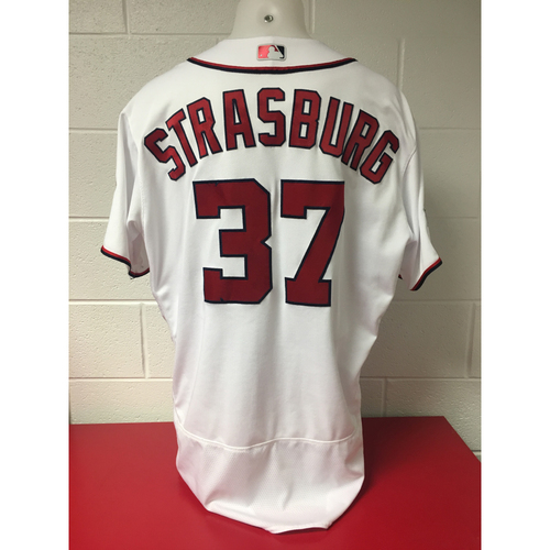 Game-Used Jersey - Stephen Strasburg