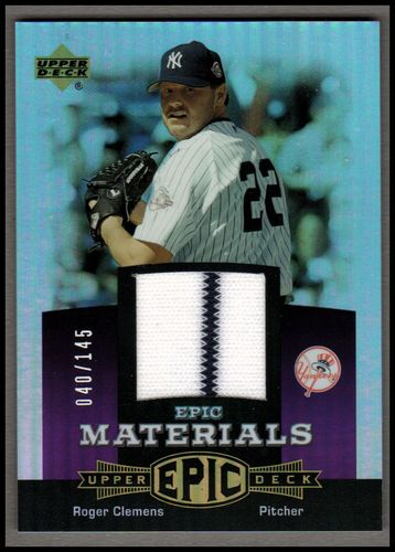 Photo of 2006 Upper Deck Epic Materials Dark Purple #RC1 Roger Clemens Jsy/145