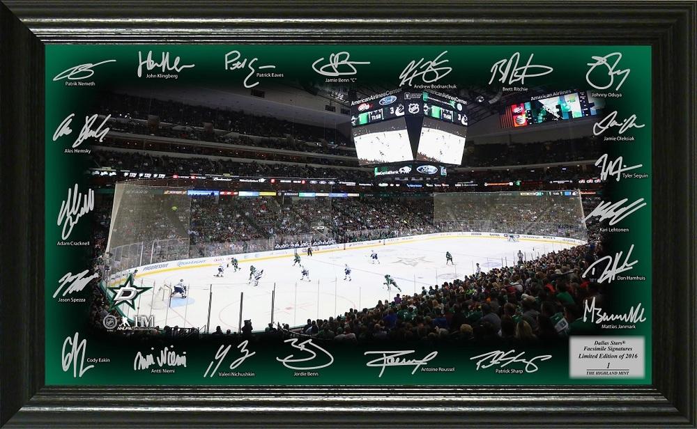 Serial #1 Dallas Stars Signature Rink