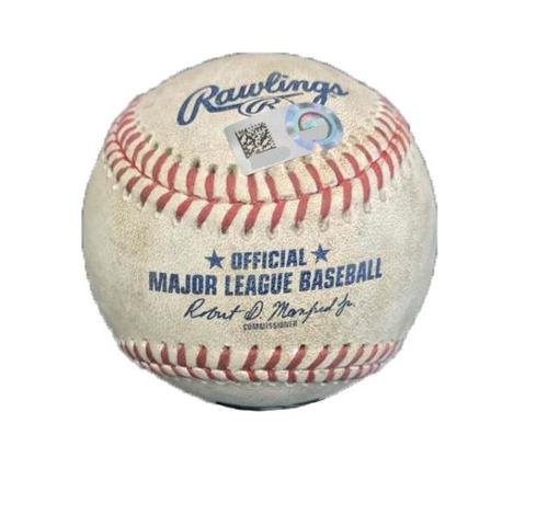 Photo of Game-Used Baseball from Pirates vs. Cubs on 9/7/17 - Lester to McCutchen - 3 Pitches, Pickoff Attempt to 1st