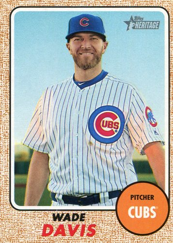 Photo of 2017 Topps Heritage #618 Wade Davis Cubs post-season