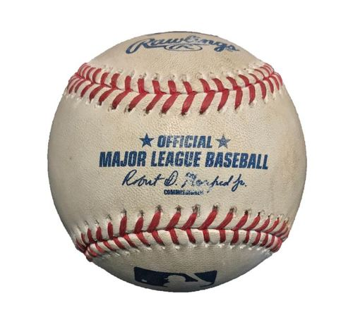 Game-Used Baseball from Pirates vs. Marlins on 5/27/15 - Dee Gordon Single