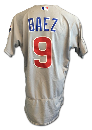 Javier Baez Game-Used Jersey -- NLDS Game 2 -- Cubs at Nationals -- 10/7/17