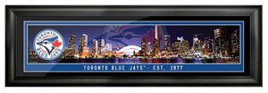 Toronto Blue Jays City Skyline Picture Frame by Mint Green Group