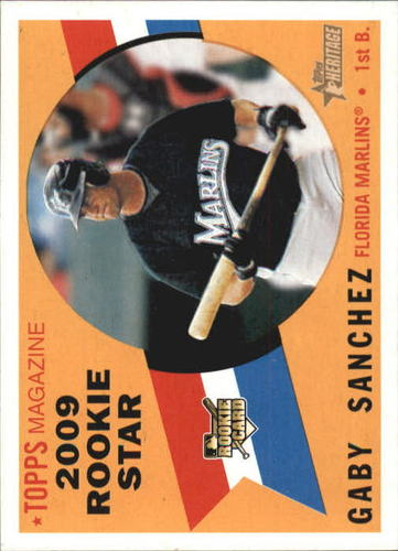 Photo of 2009 Topps Heritage #127 Gaby Sanchez RC