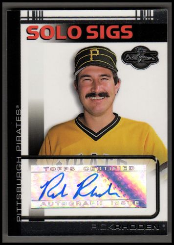 Photo of 2007 Topps Co-Signers Solo Sigs #RR Rick Rhoden A
