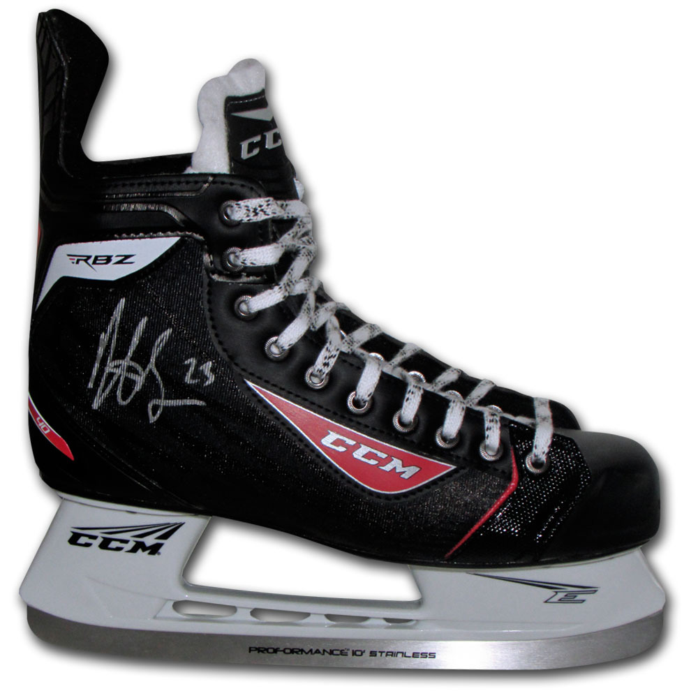Dustin Brown Autographed CCM Hockey Skate (Los Angeles Kings)