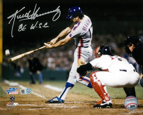 "Photo of Keith Hernandez - Autographed 8X10 Photo - Inscribed ""86 WSC"""