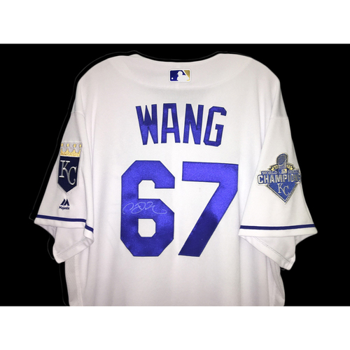Photo of Chien Ming Wang Autographed Jersey (White) - Size 50