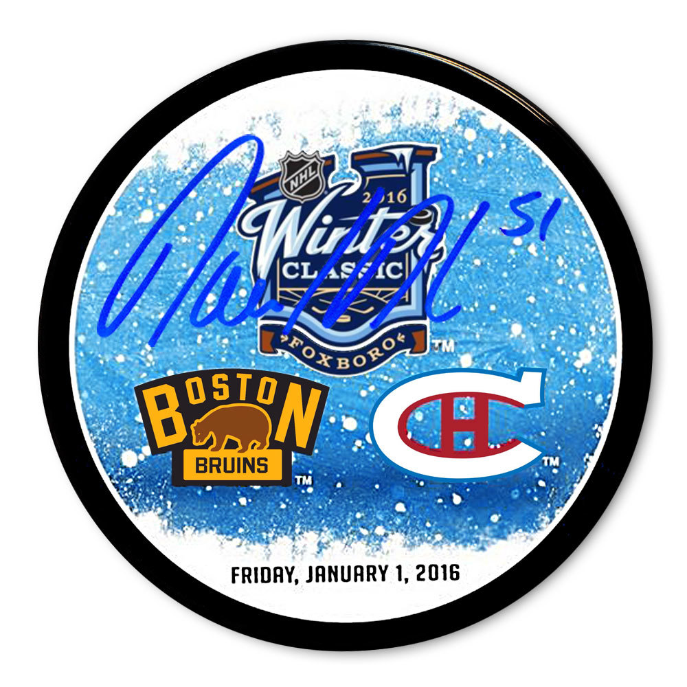 David Desharnais 2016 Winter Classic Dueling Autographed Puck Montreal Canadiens
