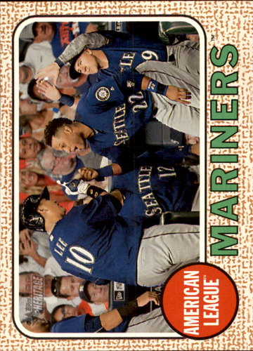 Photo of 2017 Topps Heritage #202 Seattle Mariners TC