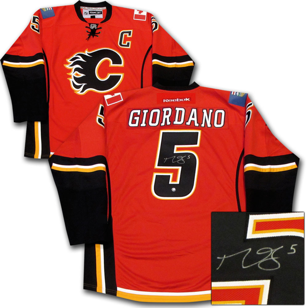 Mark Giordano Autographed Calgary Flames Jersey