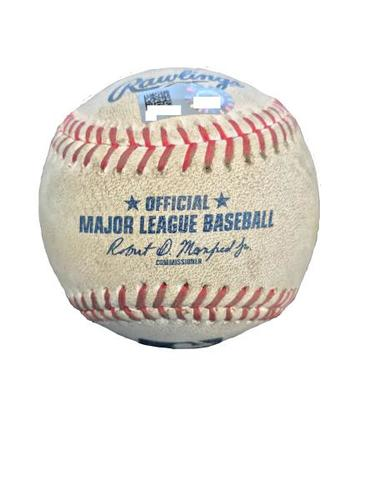 Photo of Game-Used Baseball from Pirates vs. Rays on 6/29/17 - Archer to McCutchen, Ball in Dirt