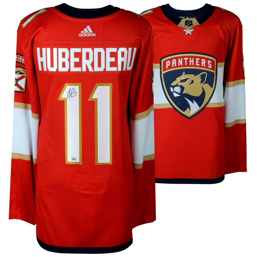 Jonathan Huberdeau Florida Panthers Autographed Red Adidas Authentic Jersey