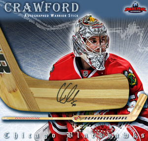 COREY CRAWFORD Signed Warrior Goal Stick - Chicago Blackhawks