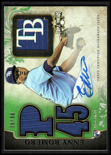 Photo of 2014 Topps Triple Threads Emerald #110 Enny Romero JSY AU
