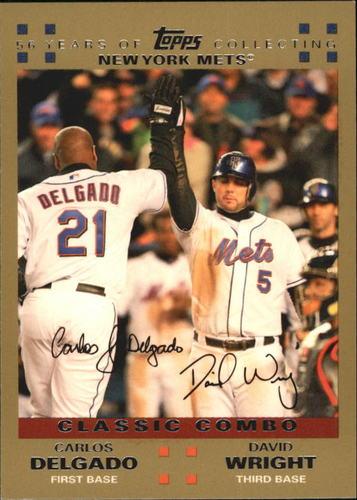 Photo of 2007 Topps Gold #328 C.Delgado/D.Wright CC