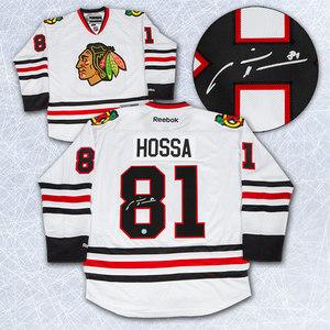 Marian Hossa Chicago Blackhawks Autographed White Reebok Premier Jersey