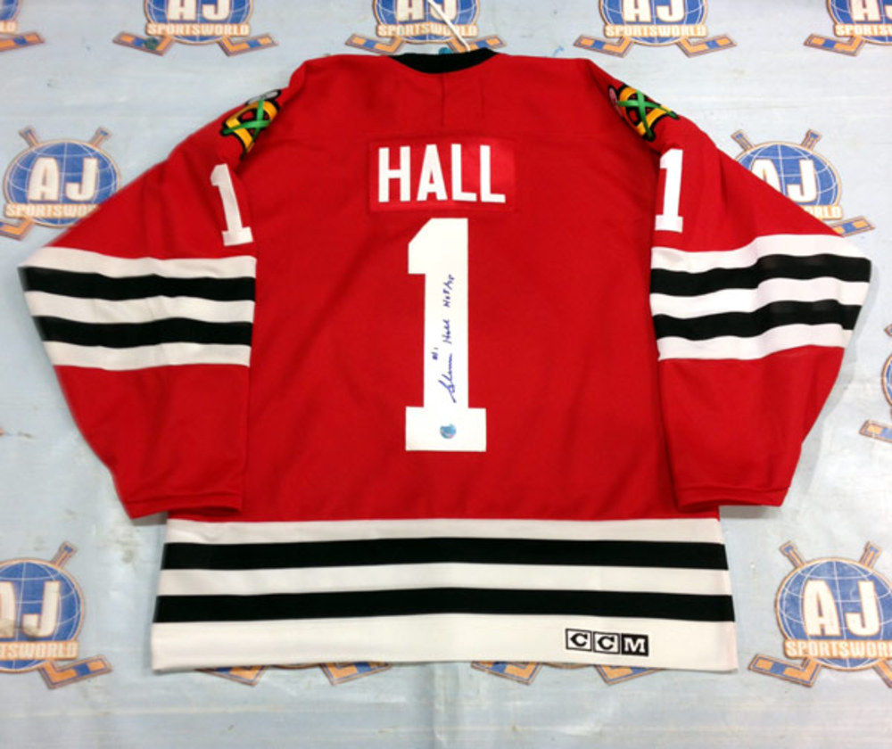 GLENN HALL Chicago Blackhawks SIGNED Hockey Jersey