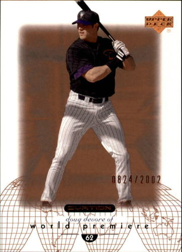 Photo of 2002 Upper Deck Ovation #67 Doug Devore WP RC