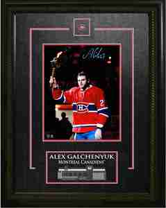 Alex Galchenyuk - Signed & Framed 8x10 Etched Mat - Montreal Canadiens Holding Torch