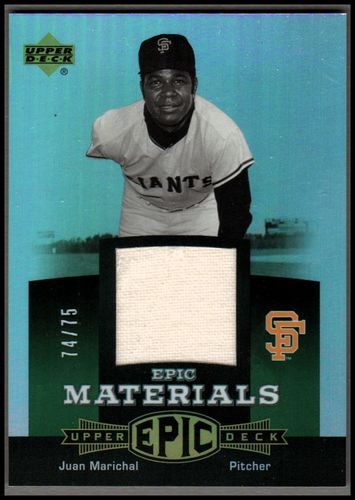 Photo of 2006 Upper Deck Epic Materials Green #JM Juan Marichal Jsy/75