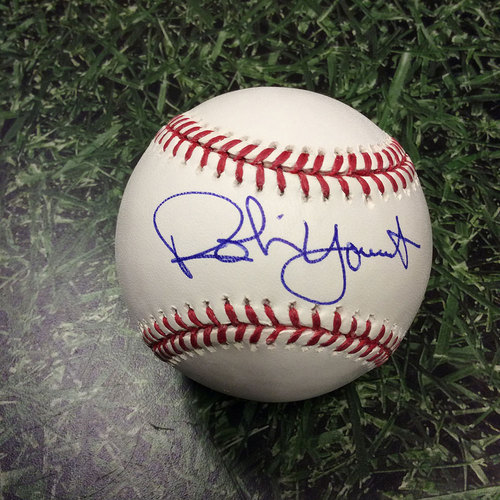 Photo of Robin Yount Autographed Baseball