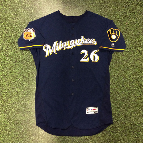 Photo of Taylor Jungmann 2017 Game-Used Spring Training Jersey