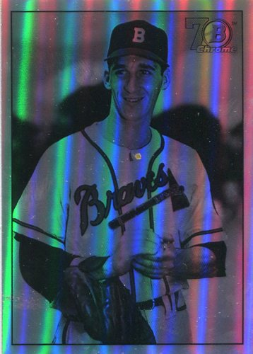 Photo of 2017 Bowman Chrome '48 Bowman Refractors #48BWS Warren Spahn