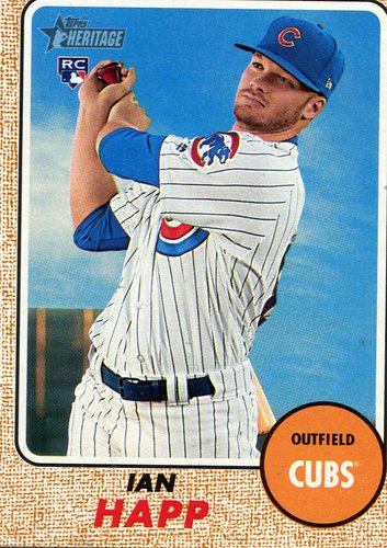 Photo of 2017 Topps Heritage #660A Ian Happ Rookie Card Cubs post-season