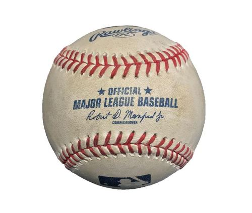 Photo of Game-Used Baseball from Pirates vs. Cubs on 9/16/15 - Dexter Fowler Triple