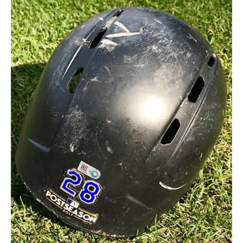 Photo of Colorado Rockies Nolan Arenado Team-Issued Batting Helmet